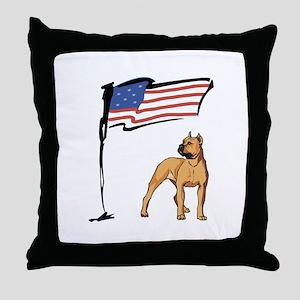 USA Pit Throw Pillow