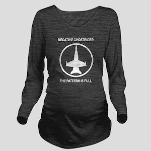 ghost2 Long Sleeve Maternity T-Shirt