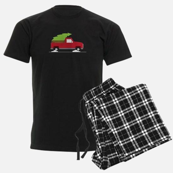 Red Christmas Truck Pajamas