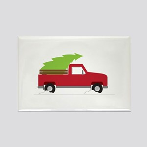 Red Christmas Truck Magnets