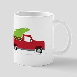 Red Christmas Truck Mugs