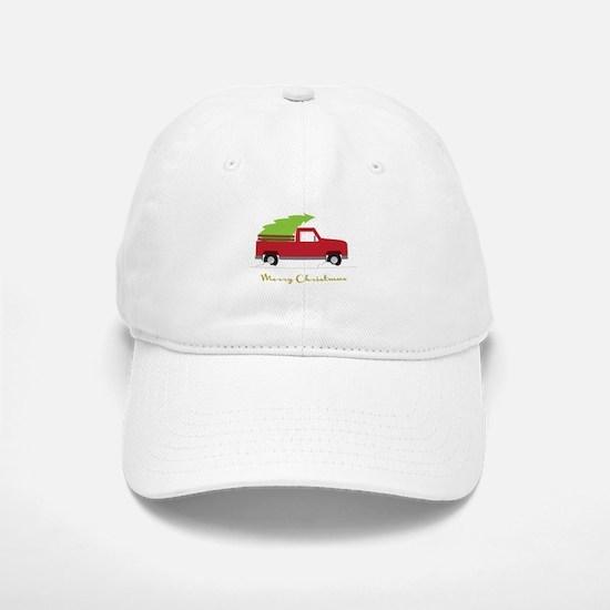 25. Red Pick up Truck Christmas Tree Baseball Baseball Baseball Cap