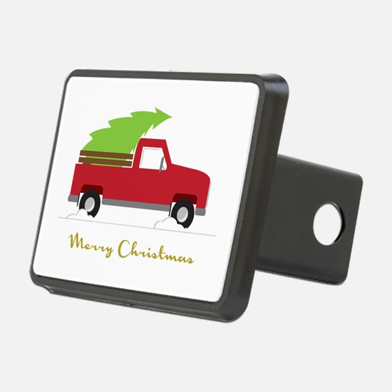 25. Red Pick up Truck Christmas Tree Hitch Cover