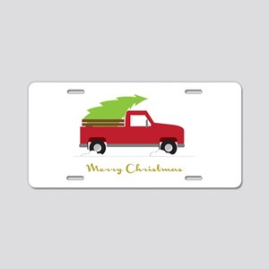 25. Red Pick up Truck Christmas Tree Aluminum Lice