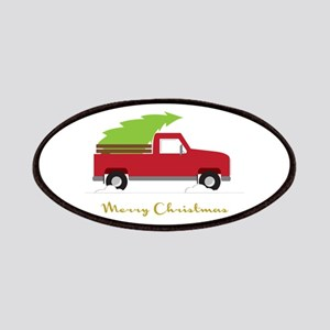 25. Red Pick up Truck Christmas Tree Patches