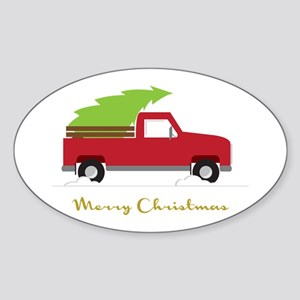 25. Red Pick up Truck Christmas Tree Sticker