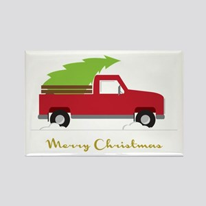 25. Red Pick up Truck Christmas Tree Magnets