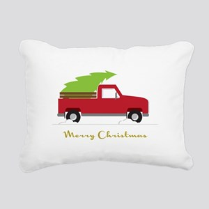 25. Red Pick up Truck Christmas Tree Rectangular C