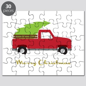 Red Pick Up Truck Christmas Tree Puzzle