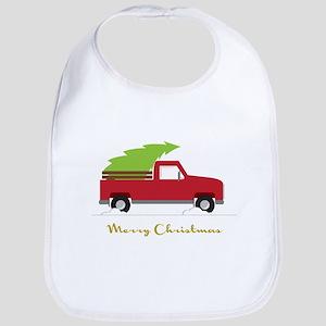 25. Red Pick up Truck Christmas Tree Bib