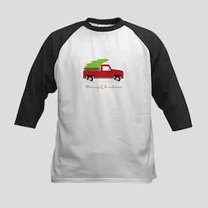 25. Red Pick up Truck Christmas Tree Baseball Jers
