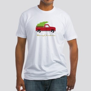25. Red Pick up Truck Christmas Tree T-Shirt