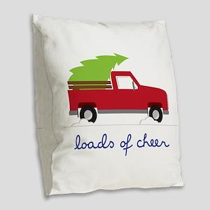 Loads of Cheer Burlap Throw Pillow