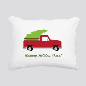 Hauling Holiday Cheer Rectangular Canvas Pillow