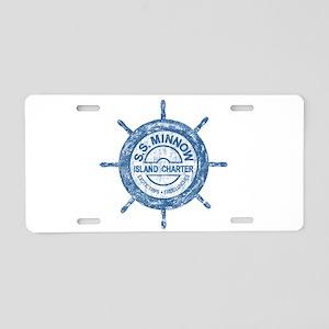 S.S. MINNOW ISLAND TOURS Aluminum License Plate
