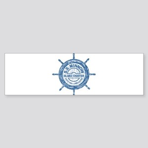 S.S. MINNOW ISLAND TOURS Bumper Sticker