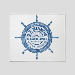 S.S. MINNOW ISLAND TOURS Throw Blanket