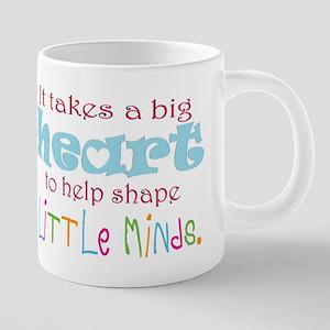 big heart: teacher, Mugs