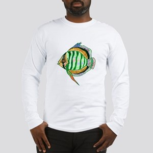 Striped Discus Fish Long Sleeve T-Shirt
