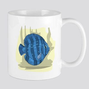 Blue Discus Fish Mugs