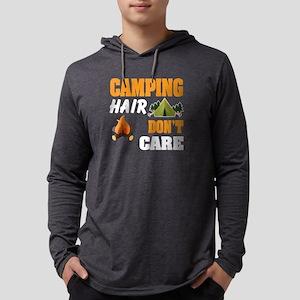 Camping Hair Don't Care T Shir Long Sleeve T-Shirt