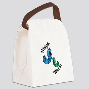 Wiggle Worm Canvas Lunch Bag