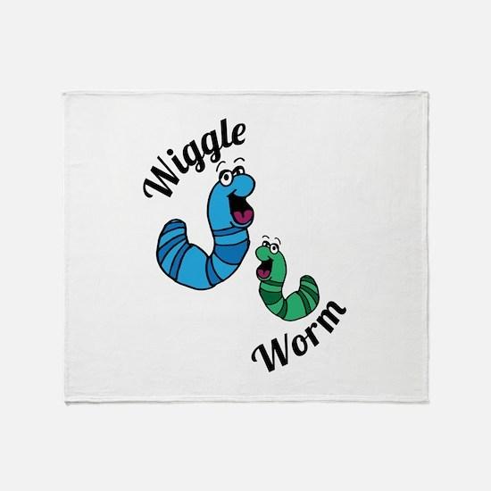 Wiggle Worm Throw Blanket