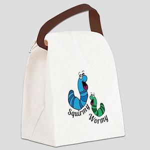 Squirmy Wormy Canvas Lunch Bag