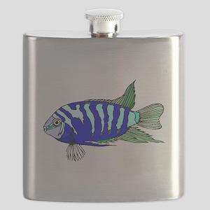 Blue Striped Cichlid Flask