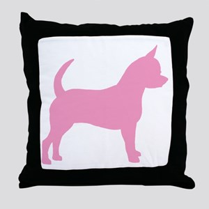 Pink Chihuahua Dog Throw Pillow