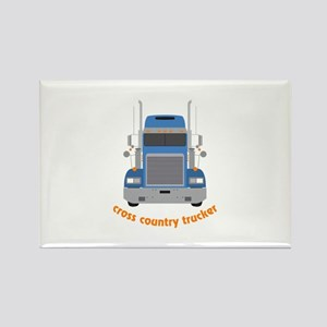 Cross Country Trucker Magnets