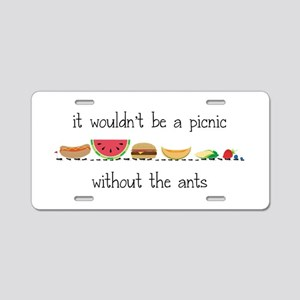 Without Ants Aluminum License Plate