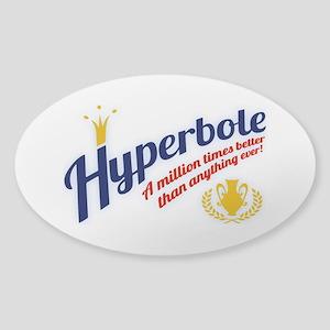 Hyperbole Sticker (Oval)
