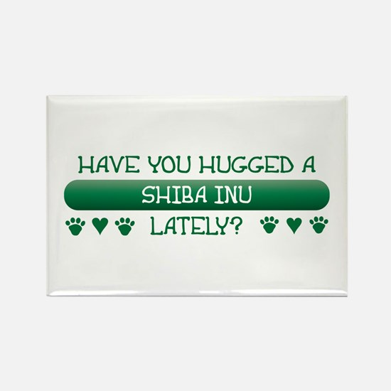 Hugged Shiba Rectangle Magnet