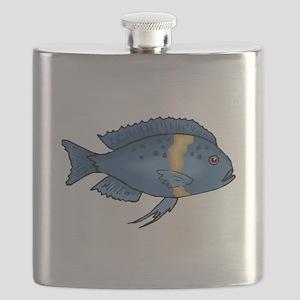 Blue Cichlid Flask