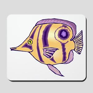 Purple Butterfly Fish Mousepad
