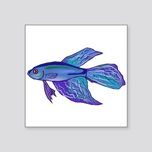 Blue Betta Fish Sticker