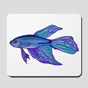Blue Betta Fish Mousepad