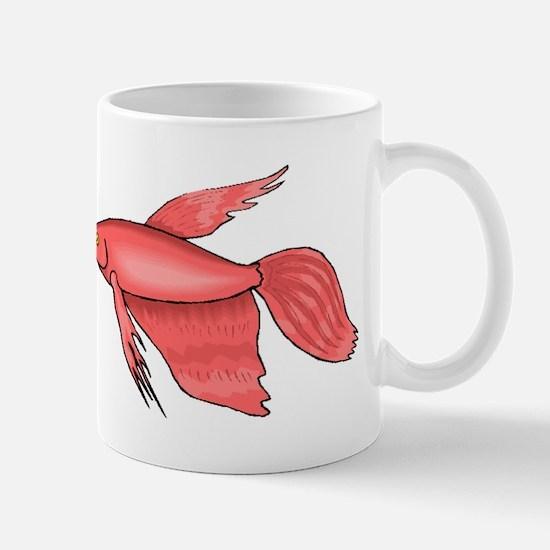 Pink Betta Fish Mugs