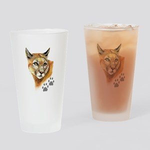 Watercolor Mountain Lion, Puma, Footprints Animal