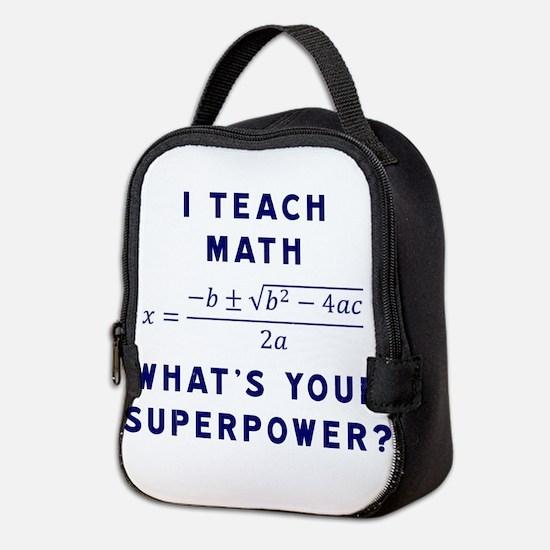Cute Math Neoprene Lunch Bag