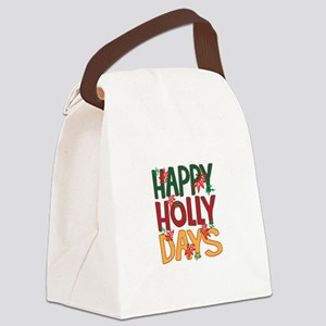 Happy Holly Days Canvas Lunch Bag