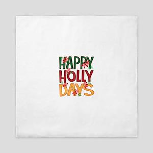 Happy Holly Days Queen Duvet