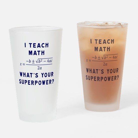 Cool Funny math Drinking Glass