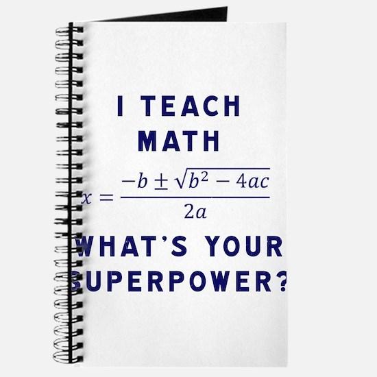 Unique Math teacher Journal