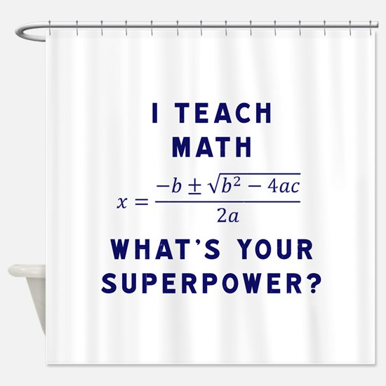 Funny Math Shower Curtain