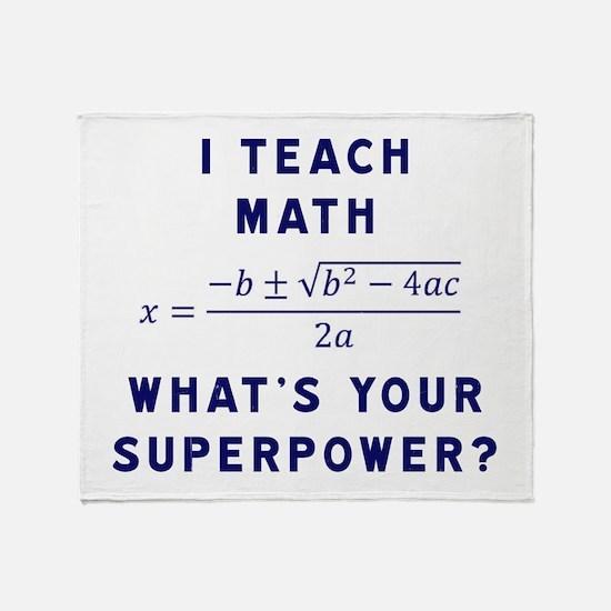 Cool Math Throw Blanket