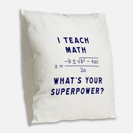 Unique Math Burlap Throw Pillow