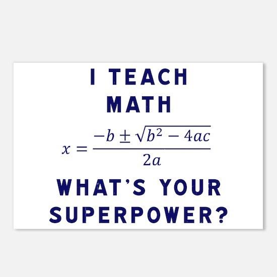 Unique Math teacher Postcards (Package of 8)