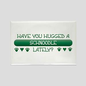 Hugged Schnoodle Rectangle Magnet